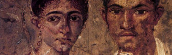 Painting of couple from Pompeii